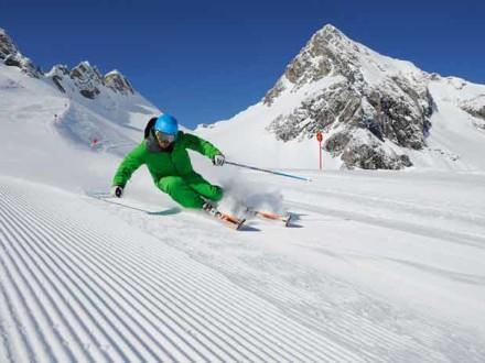 Skifahrer Arlberg